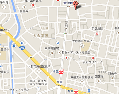 篠原歯科への地図
